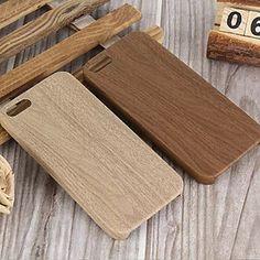 iphone+7+mais+grão+de+madeira+TPU+escudo+macio+caso+tampa+traseira+para+o+iphone+5+/+5s+–+EUR+€+2.93