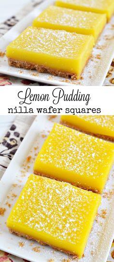 Lemon Pudding Nilla Wafer Squares Recipe