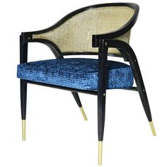 """Edward Wormley for Dunbar """"A-Frame"""" Armchair   See more antique and modern Armchairs at http://www.1stdibs.com/furniture/seating/armchairs"""