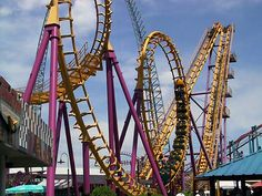 i cant wait to ride this  rollercoaster at Elitch Gardens Amusement Park # microcation