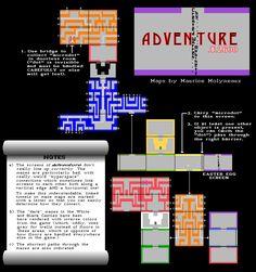 La carte du jeu Adventure sur Atari.