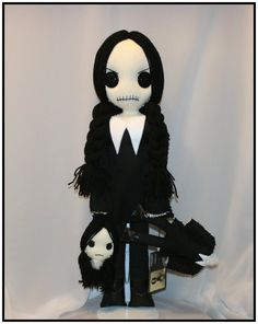 Hey, I found this really awesome Etsy listing at https://www.etsy.com/listing/211551413/wednesday-addams-inspired-hand-stitched