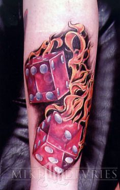 Dice Tattoo Designs: Risk-Takers and Gamblers - Tattoo Meanings