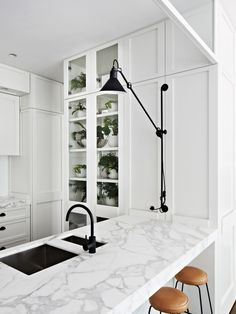 Toorak Residence by Hecker Guthrie. dunno if i could live with all white... but for this kitchen i would try.