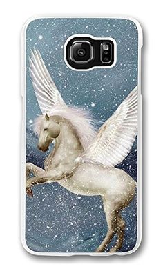 Case, Galaxy Case, Flying White Horse Shock Absorption Bumper Case Protect Slim Fit Hard PC Clear Edge Cover for Samsung Galaxy Samsung Galaxy S6, Phone Cases, Slim, Education, Amazon, Cover, Amazons, Riding Habit, Onderwijs