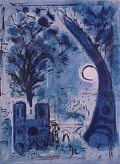 Marc Chagall, Notre Dame and the Eiffel Tower ( 1960 )