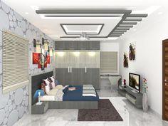 Interior Designers || Interior Design - Vizag, Madhurawada, Vijayawada Bedroom Pop Design, Room Door Design, Wardrobe Design Bedroom, Master Bedroom Interior, Bedroom Furniture Design, Bed Design, House Ceiling Design, Ceiling Design Living Room, Bedroom False Ceiling Design