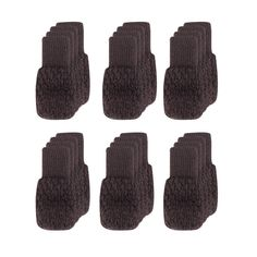 Cuccu 24pcs Coffee Knitting Wool Furniture Socks/Reliable Chair Leg Floor Protector,Wood Floor Protectors with Cute Design, Elastic Chair Furniture Socks Sets, Vertical Knitted and Reduce Noise