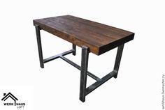 Купить Стол барный в стиле Эко Лофт - коричневый, стол, барный стол, бар, кухня
