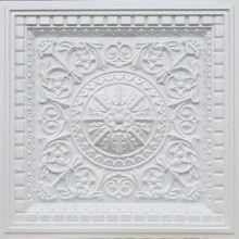 215 White Pearl Coffered Ceiling Tiles 24x24 - Da Vinci