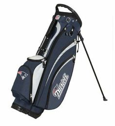 NFL New England Patriots Wilson Carry Golf Bag (9 x 8-Inch) by Wilson. Save 6 Off!. $159.99. Premium diamond rip-stop fabric and a premium lightweight stand complete with angled feet and a stand lock strap for durability and easy setup all over the course. 7 total pockets to hold all gear; 1 full length side clothing pocket, 1 large side accessory pocket, 1 side valuable pocket, 2 side pockets, 1 front ball/accessories pocket, and 1 large bottom front beverage pocket. New 9 inch x 8 i...