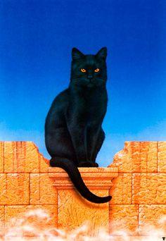 Artwork by Ciruelo Cabral. #cats #art #cute