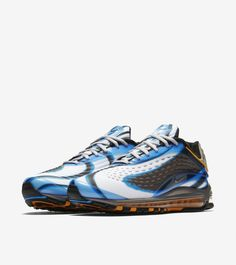 Explore and buy the Nike Air Max Deluxe  Photo Blue   Wolf Grey   Orange  Peel . Stay a step ahead of the latest sneaker launches and drops. 693e79015