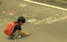 Baguio City Folks Cover Session Road With Chalk Drawings To Celebrate Charter Day
