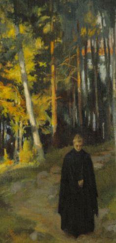 Albert Edelfelt: From the Woods, 1899 (detail). Yellow Art, Drawing Projects, Tree Trunks, Scandinavian Art, Art Studies, Vincent Van Gogh, Art History, Art Pieces, Art Gallery