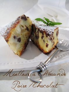 Gâteau poire chocolat No Cook Desserts, Lemon Desserts, Dessert Recipes, Pear And Chocolate Cake, Biscuit Cake, Round Cakes, Sweet Cakes, Coffee Cake, Sweet Recipes