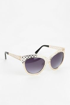 Crisscross Metal Cat-Eye Sunglasses #urbanoutfitters