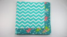 CHEVRON and sock MONKEY baby boy/girl flannel by onepinkhen, $20.00