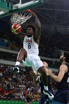 fc29aed88c5 DeAndre Jordan of United States dunks the ball against Argentina during  the… Lakers Celtics