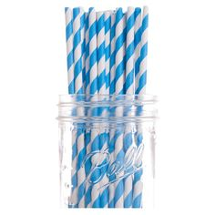 Evie Straw in Blue (Set of 50)