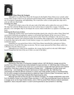 prince henry the navigator (CC Timeline C1 W13)