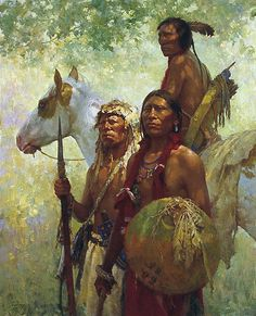 This is definitely one of the best native American painting and art illustrations you can find.It is often believed that the ancient Native Americans c Native American Paintings, Native American Pictures, Native American Beauty, American Indian Art, Native American History, Indian Paintings, American Artists, American Indians, Western Comics