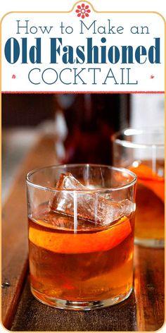 Old Fashioned Bitters, Whiskey Old Fashioned, Old Fashioned Drink, Old Fashioned Cocktail, Classic Old Fashioned Recipe, Making An Old Fashioned, Old Fashioned Recipes, Old Fashion Cocktail Recipe, Coffee Milkshake