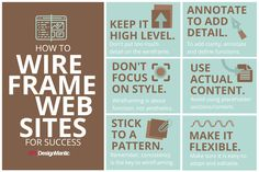Wireframing Do's and Don'ts Every Web Designer Should Know! | http://www.designmantic.com/blog/wireframing-dos-donts-for-web-designers/