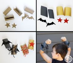 Superhero Cuffs made from toilet paper rolls! So clever!