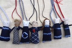 fabric doll necklaces