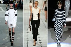 Spring 2013 fashion Trends for women: Black & White outfit (Alexander Wang, Jason Wu, Marc Jacobs)
