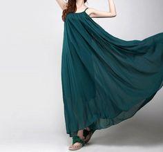 dress/Chiffon dress/ long Dress/maxi dress/summer by kunniestore