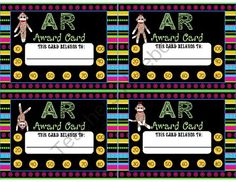 Accelerated Reading Points Punch Cards Sock Monkey Theme Set One from Webby's Second Grade on TeachersNotebook.com -  (7 pages)  - f you use Accelerating Reading in your classroom then you will want these handy punch cards. I have made 12 different punch cards that you can punch every time your student earns AR points. The points are in 10 point intervals. The first set of punch card