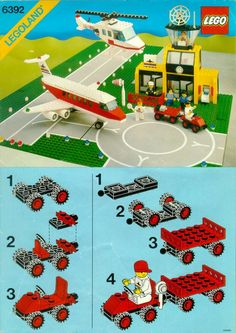 Every Lego instruction booklet - totally love that this site exists! Town - Airport [Lego 6392]