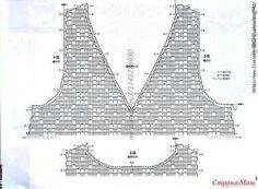 Top hook in sirloin technology. Col Crochet, Crochet Shirt, Granny Square Crochet Pattern, Crochet Diagram, Crochet Woman, Crochet For Kids, Crochet Yarn, Crochet Stitches, Crochet Patterns
