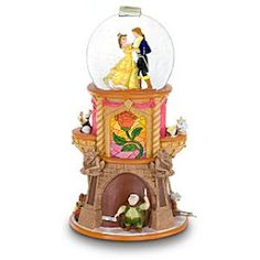 Disney Snowglobes Collectors Guide: Beauty and the Beast Pedestal