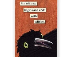 Self Care Begin & Ends With Wine Magnet - Bird - Humor - Gift - Stocking Stuffer - Mincing Mockingbird Weird Birds, Funny Birds, Bird Quotes, Def Not, Self Care, Decir No, Magnets, Funny Quotes, Hilarious