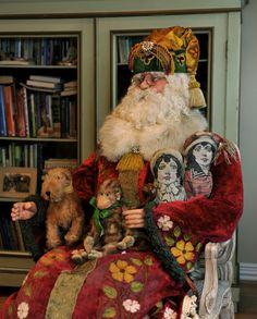 Santa loves to sit down and tell us a story...