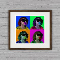 Unique Warhol Style Pop Art Portraits From Your by dasfolDesign Pop Art Portraits, Warhol, Etsy Store, Your Photos, Round Sunglasses, Trending Outfits, Unique Jewelry, Colors, Vintage