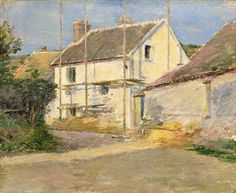Theodore Robinson (American, House with Scaffolding, Giverny, Oil on canvas, x cm. Modern Artists, Great Artists, Theodore Robinson, A4 Poster, Poster Prints, Modern Art Styles, American Impressionism, Arts Integration, Impressionist Landscape
