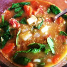 Red Lentil Spinach Soup