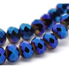 A string of  AB purple facted rondelle crystal glass beads 8x6mm approx 72pcs
