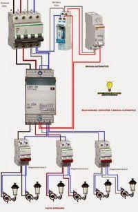 Esquemas eléctricos: ALUMBRADO EXTERIOR TRIFASICO A MONOFASICO