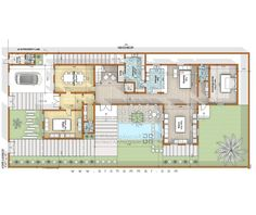 House Layout Plans, New House Plans, House Layouts, Architectural Floor Plans, Contemporary Building, Architectural Presentation, Architecture Plan, Villas, Plane