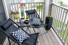 25 best little balcony design ideas - Balkon Ideen - Balcony Furniture Design Small Balcony Design, Small Patio, Patio Design, Balcony Furniture, Outdoor Furniture Sets, Furniture Ideas, Patio Decorating Ideas On A Budget, Decor Ideas, 31 Ideas