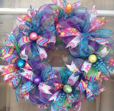 Deco Mesh Easter Wreath https://www.etsy.com/shop/IslandGirlWreaths?ref=l2-shopheader-name