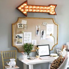 An inspiration board above your desk space will inspire creativity and promote productivity