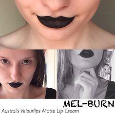 Australis Velourlips Matte Lip Cream swatch in Mel-Burn!
