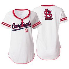 New Era St. Louis Cardinals Women's White Slub Jersey T-Shirt