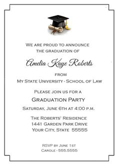 University Graduation Clapboard Hat Graduation Invitation College Graduation Invite Printable Graduation Invites High School Graduation